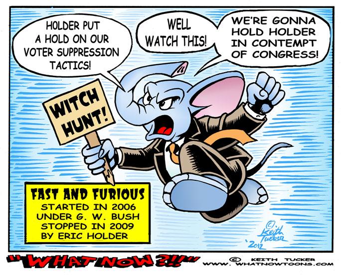 cartoons on holder withch hunt