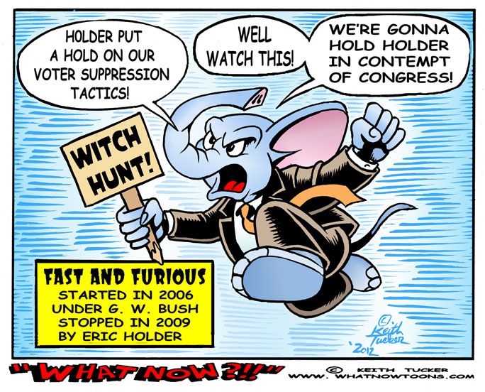 cartoons  on eric holder witch hunt