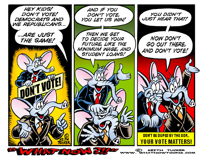 Voter apathy, Don't vote, voter suppression, GOP,  Republican Party, Politics, 2016 Presidential Election, Voter Fraud, Voting Rights, Voting Rights Act Of 1965, Minorities, Photo ID, Reince Priebus, The Supreme Court, Voting Reform, Politics News, voter turnout,political cartoons